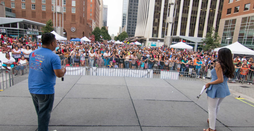 View of crowd from main stage.